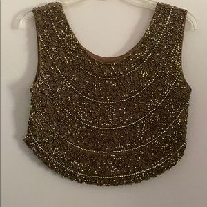 Fora Women's Vintage Beaded Top. Size S/M.